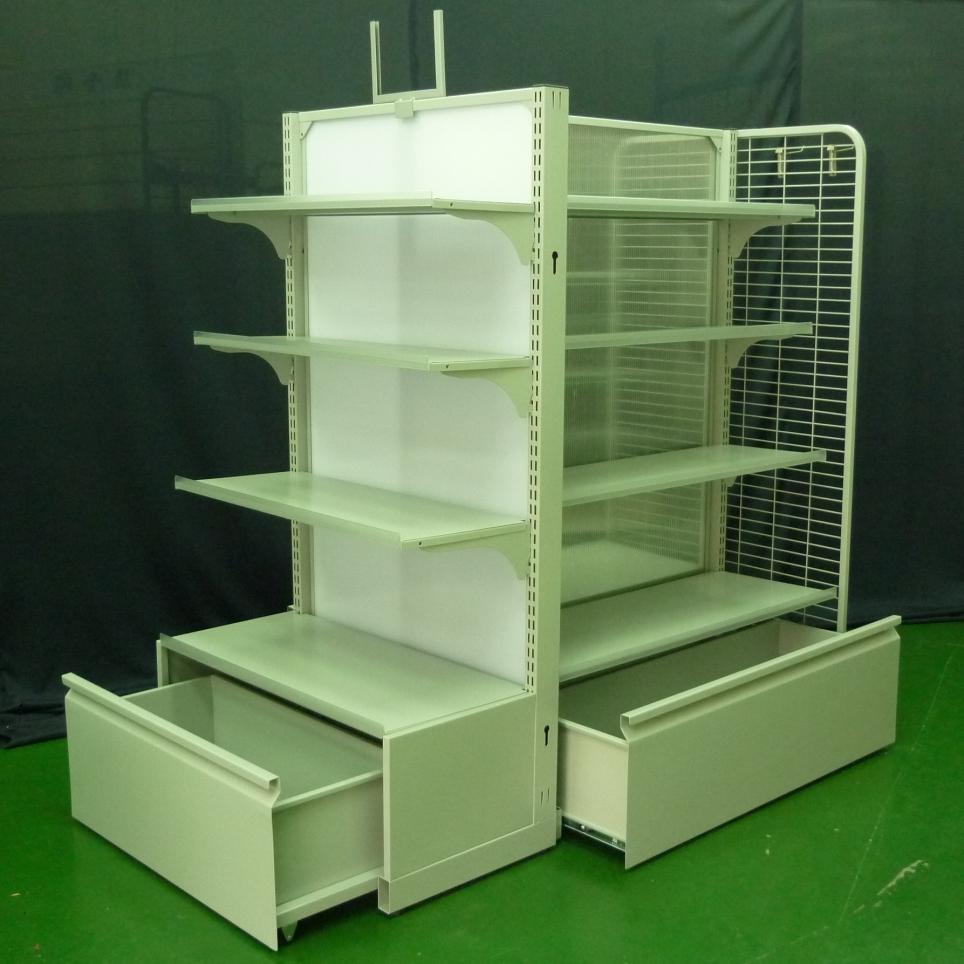 中空背板架+燈箱-抽屜型