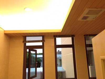 四維羅設計_太平區台灣檜木壁板 _緬甸花梨實木地板