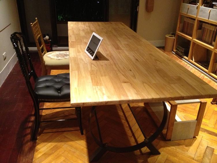 白櫸木集成實木餐桌