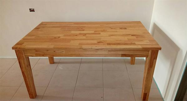 柚木集成實木餐桌
