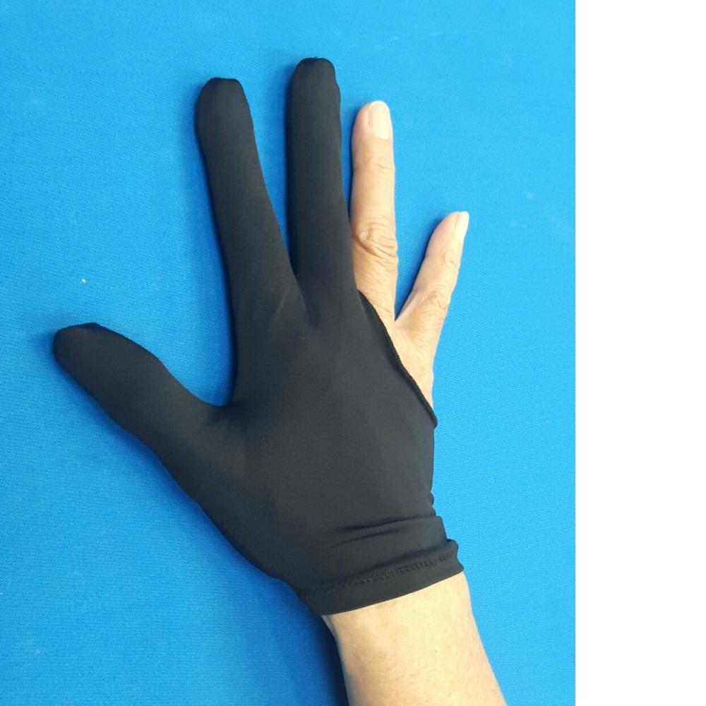 新款透氣撞球三指手套