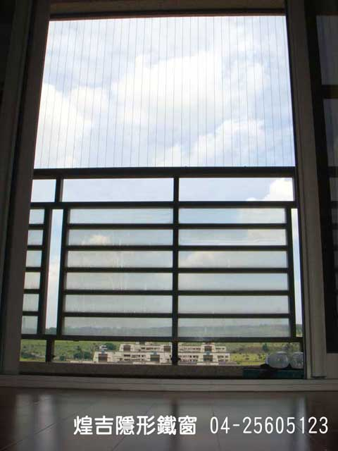 台中隱形鐵窗 - 中科大樓安裝案例2