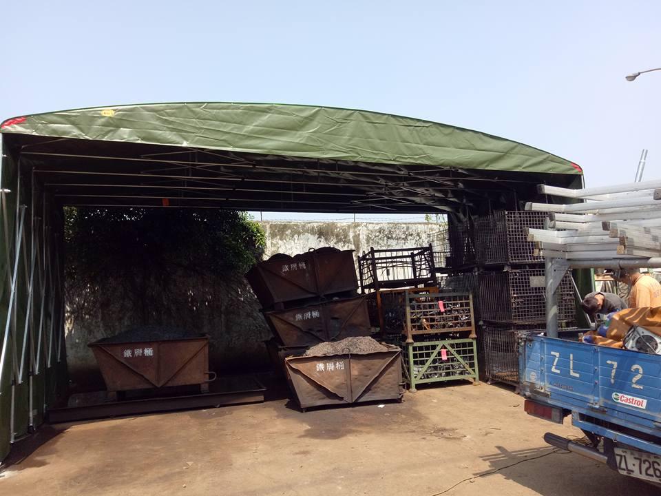 台南貨車鐵架帆布、車庫