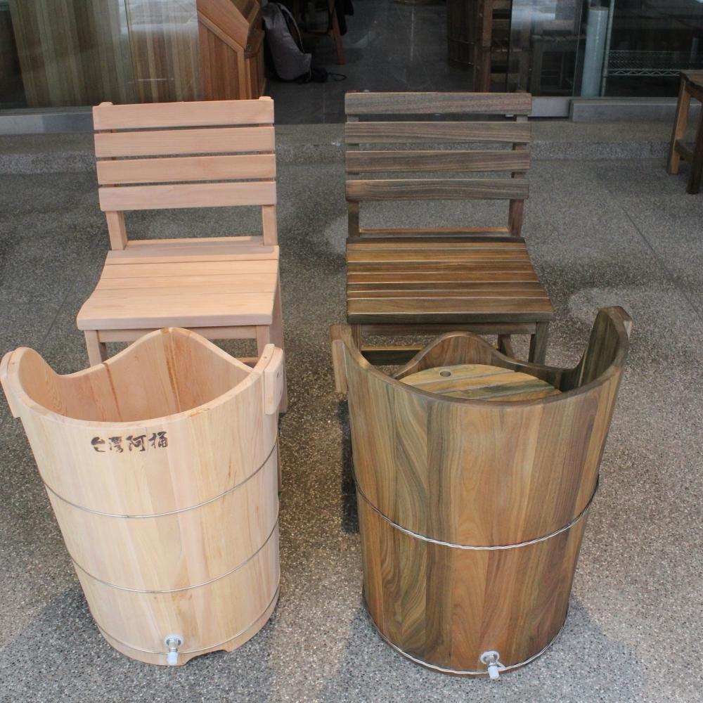 綠檀木蒸足蒸腰兩用桶