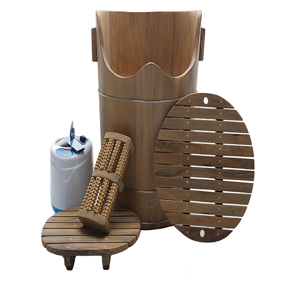 檀香木蒸足蒸腰兩用桶