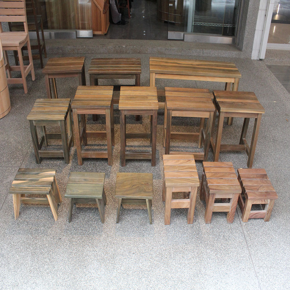 綠檀浴室椅凳、蒸氣室