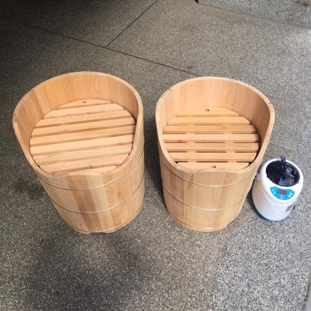 台灣檜木蒸足桶