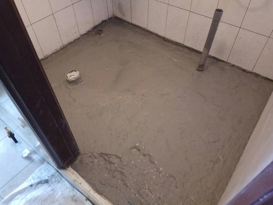 浴室地磚打除重新配管