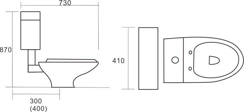 分離式馬桶-貨號:5801-3A