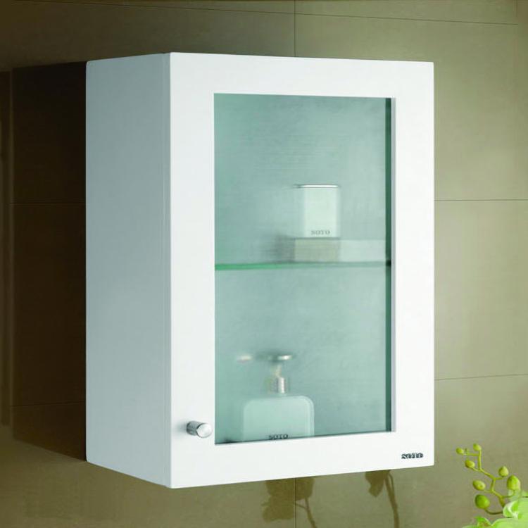 烤漆玻璃單門浴櫃(3