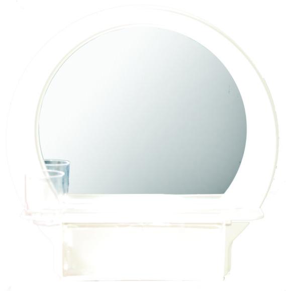 半圓化粧鏡(粉牙)