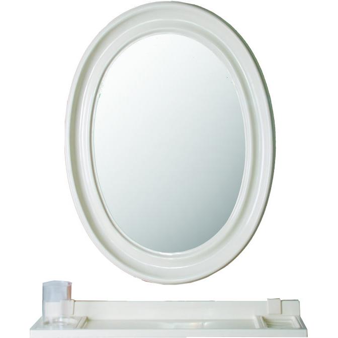 橢圓鏡 防霧(粉牙)