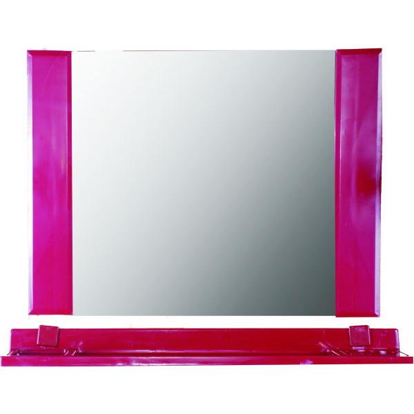 方型鏡(棗紅,無防霧