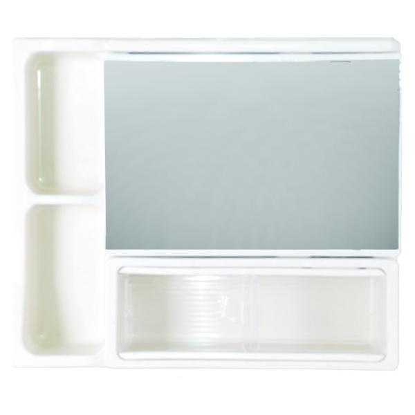 浴室化妝鏡箱(牙色)