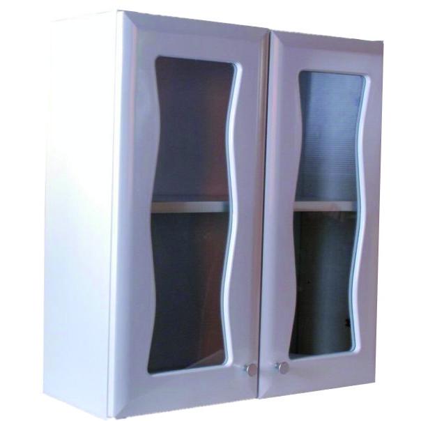 雙門玻璃浴櫃(粉牙)