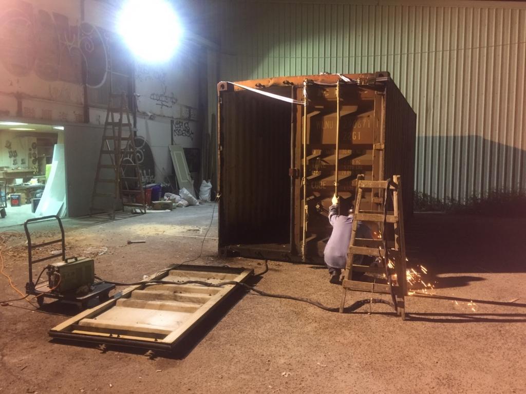 貨櫃屋設計-鐵工工程